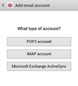 POP3 account type